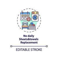 Kein tägliches Ersatzkonzept für Bettwäsche und Handtücher vektor