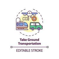 Nehmen Sie das Symbol für das Bodentransportkonzept vektor
