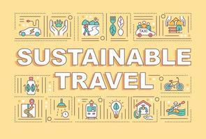 Banner für nachhaltige Reisewortkonzepte vektor