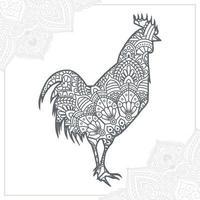 Hühnchen-Mandala. Vintage dekorative Elemente. orientalisches Muster, Vektorillustration. vektor