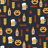 Flaches Design Oktoberfest-Muster vektor