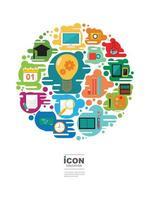 Bildung Ikone Vektor-Design vektor