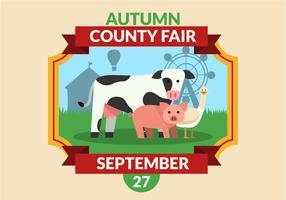 County Fair affischmall vektor