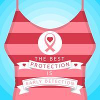Vackra bröstcancermedvetenhet Sociala mediervektorer