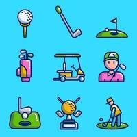 Golf Icon Sammlung vektor