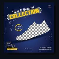 neue Schuhe Social Media Post Vorlage vektor