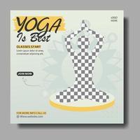 Yoga-Klasse Social Media Banner Vorlage vektor