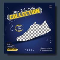 neue Schuh Social Media Banner Vorlage vektor
