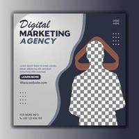 kreativ marknadsföring sociala medier post mall banner vektor