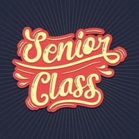 Senior Class Typografie vektor