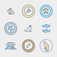doodled pet grooming logotyper