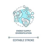 energiförsörjning diversifiering koncept ikon vektor