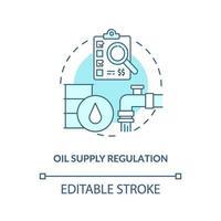 Symbol für das Konzept der Ölversorgungsregulierung vektor