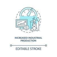 ökad ikon för industriell produktionskoncept vektor