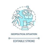 geopolitisk situation koncept ikon vektor