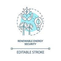 ikonen för säkerhetskoncept för förnybar energi vektor