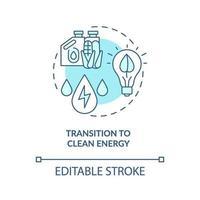 övergång till ren energi koncept ikon vektor