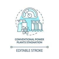 Symbol für das Stagnationskonzept herkömmlicher Kraftwerke vektor