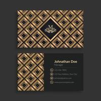 Luxus goldene Visitenkartenschablone vektor