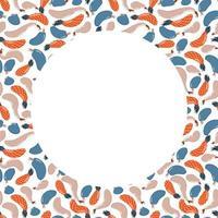 Fruchthintergrund mit abstrakter Birne, Ananas, Apfel. Obstrahmen für Text. Vektorillustration im flachen Stil vektor