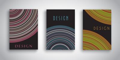 Abstrakta broschyrdesigner med randiga mönster