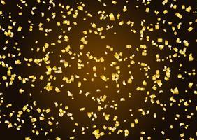 Guld konfetti bakgrund vektor