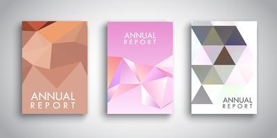 Broschüren Vorlagen mit abstrakten Low-Poly-Designs vektor