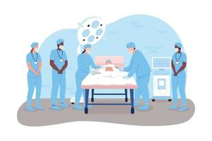chirurgischer Eingriff 2d Vektor Web Banner, Poster