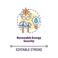 Symbol für das Sicherheitskonzept für erneuerbare Energien vektor