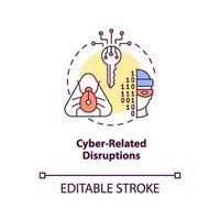 ikonen för cyberrelaterade störningar vektor
