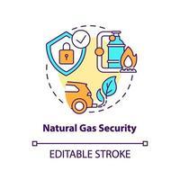 Symbol für Erdgassicherheitskonzept vektor
