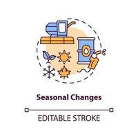 säsongsbetonade förändringar koncept ikon vektor