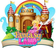 3D-Popup-Buch mit Fairy-Tail-Thema vektor