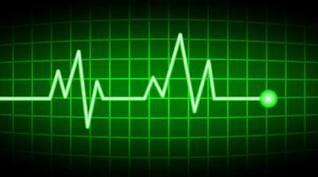 grüner Herzfrequenzbildschirm vektor