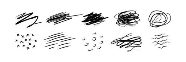 Gekritzel für Design auf weißem Hintergrund vektor