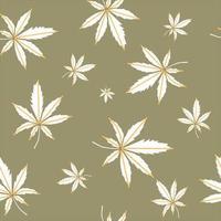 Cannabis - nahtloser Vektorhintergrund. Hanf - Muster für Stoff oder Tapete vektor