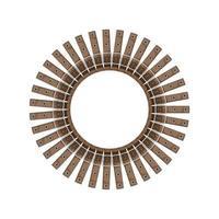 runder Rahmen von Gürteln - Vektorillustration auf einem weißen Hintergrund. vektor