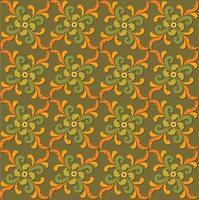 florale nahtlose dekorative Hintergrund orientalische künstlerische gedeihen Retro-Textur. abstraktes geometrisches Muster. asiatische östliche Verzierung vektor