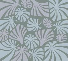 abstrakte Blumenverzierung im Retro-Art-Deco-Stil über der orientalischen blühenden Palmblattbeschaffenheit des grauen Hintergrunds. abstraktes geometrisches dekoratives oranementales Muster vektor