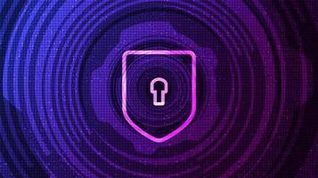Technologieschild Sicherheitsschutz und sicherer Konzepthintergrund vektor