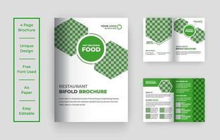 Designvorlage für zweifach gefaltete Lebensmittelbroschüren vektor