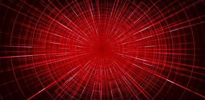 Geschwindigkeit roter Hyperraumlaser auf Technologiehintergrund vektor