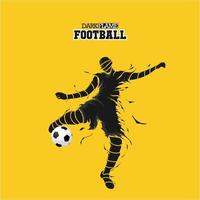 fotboll fotboll mörk flamma siluett vektor
