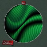 grönt tyg kläder slät bakgrund vektor