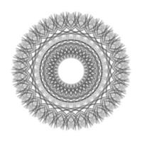 Blumen-Vektorgrafik der geometrischen Verzierung des schwarzen Kreises vektor