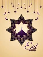mönster bakgrund för eid mubarak firande party flyer vektor