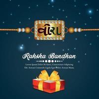 realistisk vektorillustration för lycklig raksha bandhan firande gratulationskort vektor