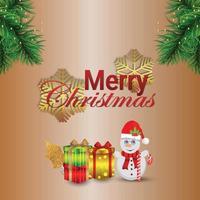 Frohe Weihnachtseinladungs-Grußkarte mit kreativer Vektorillustration von Santa und Geschenken vektor