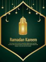 ramadan kareem firande islamisk festival med kreativ lanternabakgrund vektor