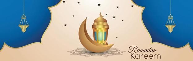 Ramadan Kareem islamisches Festival Einladungshintergrund vektor
